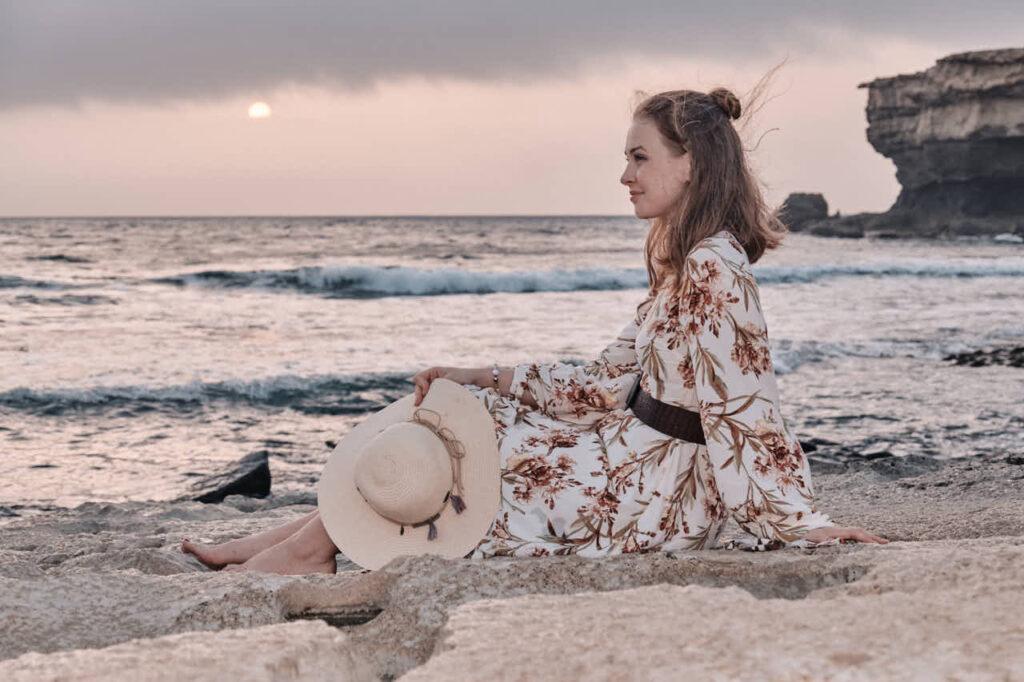 Beim Fotoshooting auf Fuerteventura macht Deutscher Fotograf Chris Klein Fotos von Freundinnen in Morro Jable an der Playa de Pared