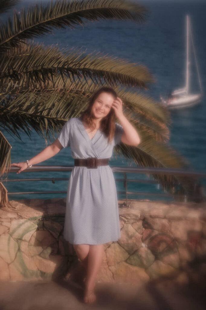 Beim Fotoshooting auf Fuerteventura fotografiert Deutscher Fotograf Chris Klein Freundinnen Bilder in Morro Jable an der Playa de Pared im David Hamilton Blur
